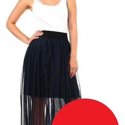 Dlouhá dámská tylová sukně červená