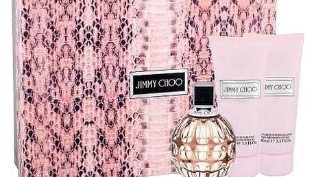 Jimmy Choo Jimmy Choo dárková kazeta pro ženy parfémovaná voda 100 ml + tělové mléko 100 ml + sprchový gel 100 ml