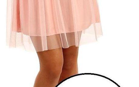 Krátká dámská tylová sukně bílá