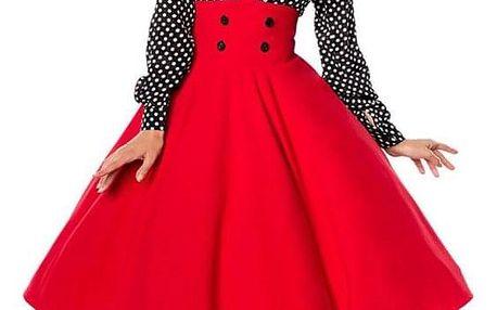 Pin-up kolová sukně červená