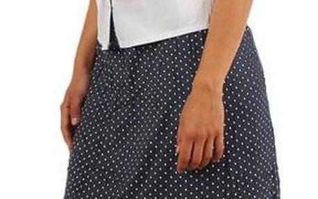 Dámská retro puntíkovaná midi sukně- i pro plnoštíhlé černá
