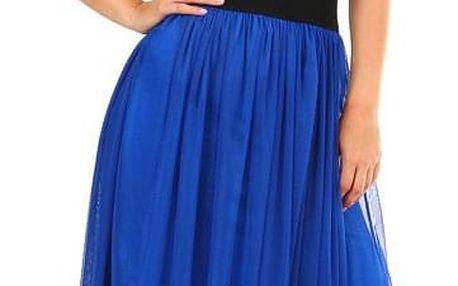Dlouhá dámská tylová sukně modrá