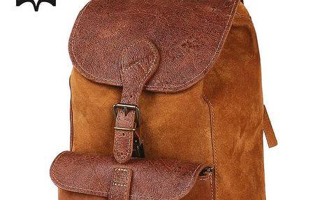 Kožený malý batoh - Česká výroba zrzavá