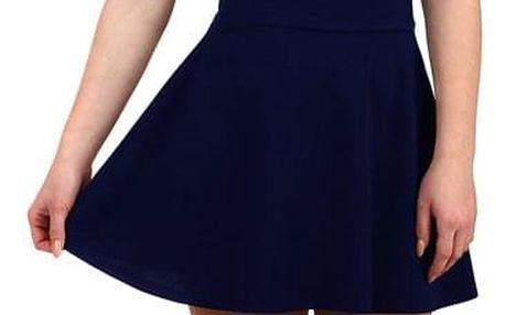 Jednobarevná dámská krátká sukně tmavě modrá
