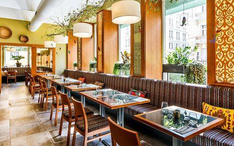 3 chody ve vegetariánské restauraci Etnosvět