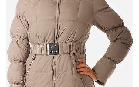 Dámská prošívaná zimní bunda béžová