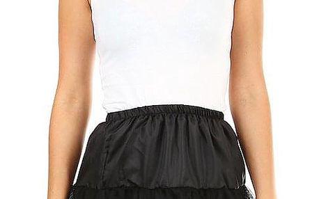 Krátká tylová spodnička černá