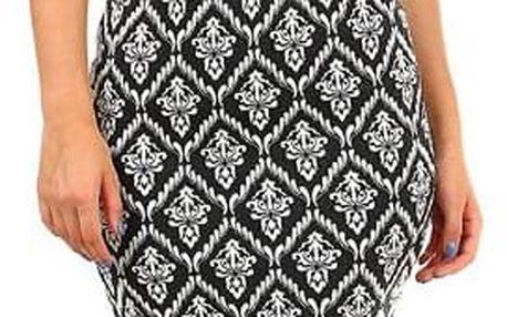 Dámská krátká sukně se vzorem černá/bílá