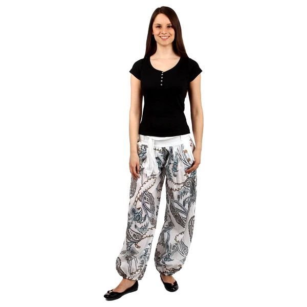 Pohodlné turecké kalhoty se vzorem tmavě modrá2