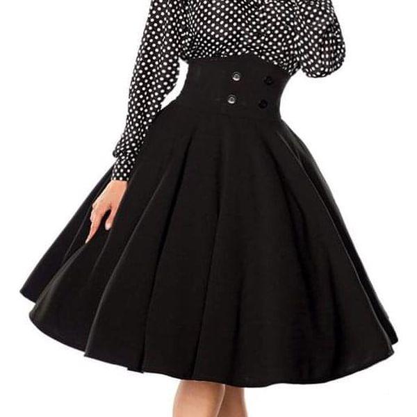 Pin-up kolová sukně černá