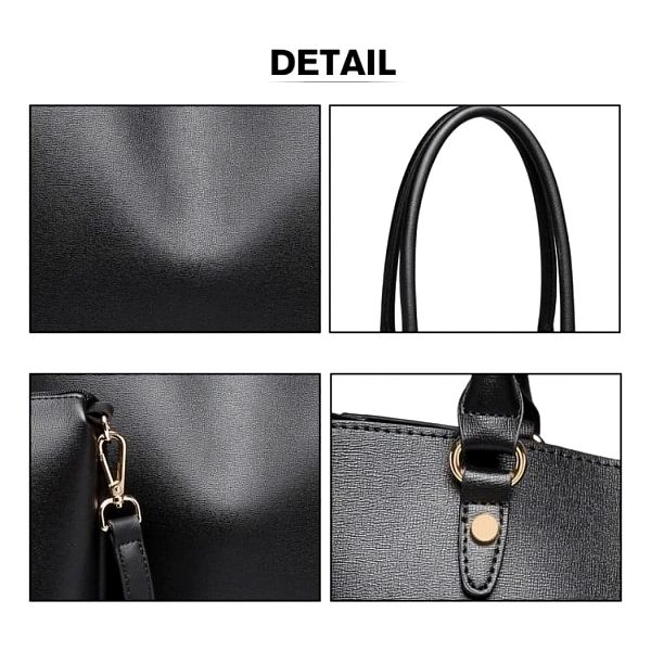 SET: Dámská černá kabelka Ricca 68955