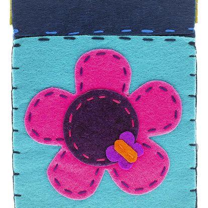 Fashion Icon Peněženka Kytka flísová na magnet