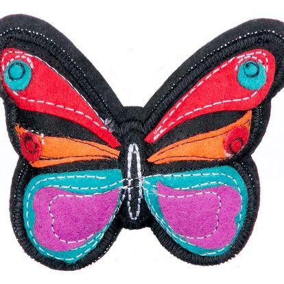 Fashion Icon Brož motýl tkanina HAND MADE ruční práce