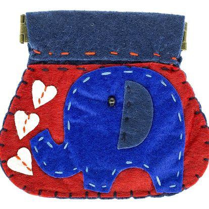 Fashion Icon Peněženka Slon flísová na magnet