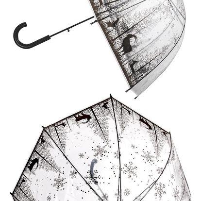 Deštník Zasněžený les průhledný