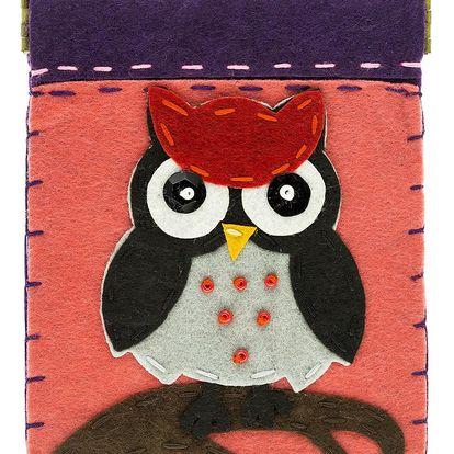 Fashion Icon Peněženka Angry Owl filcová na magnet