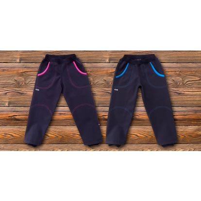 Dětské zateplené kalhoty ze softshellu zn. GUDO