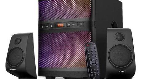 Fenda F&D F580X 2.1, bluetooth, rádio, USB, dálkové ovládání černé (F580X)