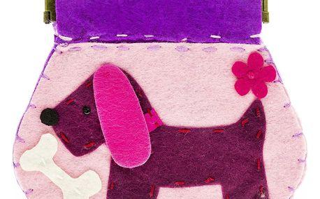 Fashion Icon Peněženka Pejsek růžový flísová na magnet