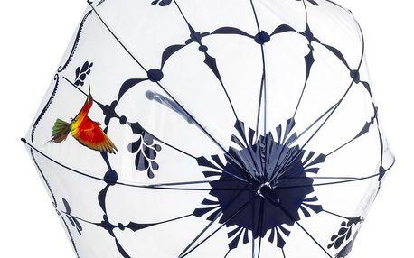 Transparentní deštník s kolibříkem