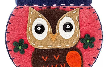 Fashion Icon Peněženka Handmade Owl filcová na magnet