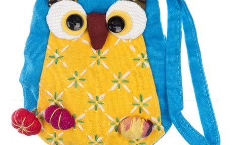 Fashion Icon Dámská peněženka sova mini handmade patchwork