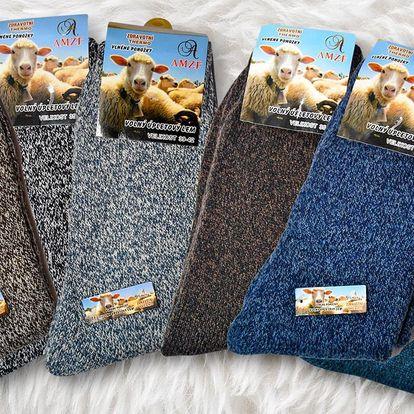 Termo ponožky z ovčí vlny pro pány i dámy