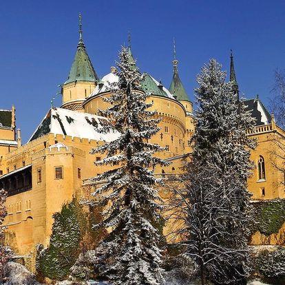 Zima ve slovenských Bojnicích se vstupem do wellness