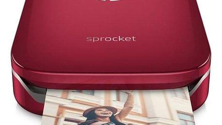 HP Sprocket Photo Printer červená (Z3Z93A#633)