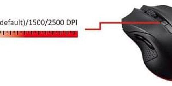 Myš Asus Cerberus Gaming Mouse černá / optická / 5 tlačítek / 2500dpi (90YH00Q1-BAUA00)4