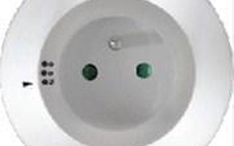 Solight WL93 s průběžnou zásuvkou, volitelné 3 barvy světla, automatický spínací senzor ve tmě, 230V bílá (WL93)