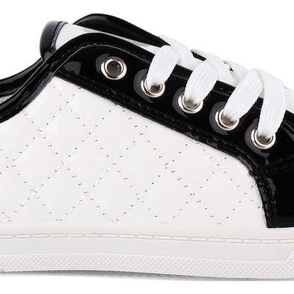Ctogo GOGO Bílo černé tenisky 630-2WH Velikost: 39 (24.5 cm)