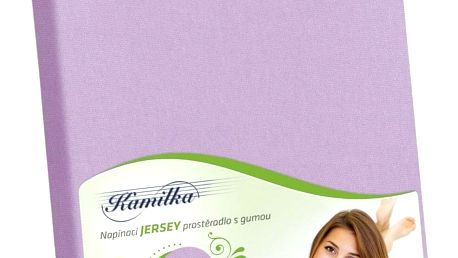 Bellatex jersey prostěradlo Kamilka fialová, 180 x 200 cm