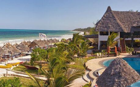 Zanzibar - Pwani Mchangani na 9 dní, all inclusive nebo polopenze s dopravou letecky z Prahy, přímo na pláži