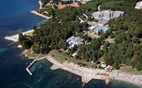 Chorvatsko - Poreč na 8 dní, polopenze s dopravou vlastní, 150 m od pláže