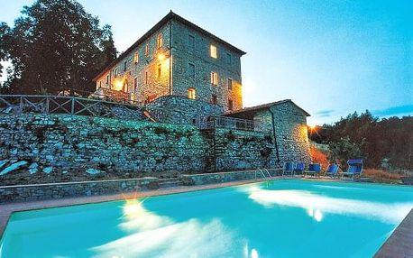 Toskánsko v romantickém Hotelu Villa Casalta s bazénem a snídaní na 4 dny
