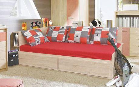 Rozkládací postel s přistýlkou MARKO 90x200 cm včetně roštu bílá