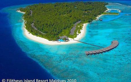 Maledivy - Filitheyo Island Resort na 9 dní, snídaně s dopravou letecky z Prahy, přímo na pláži