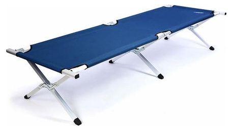 Divero 35117 Přenosná hliníková skládací postel 210 x 64 x 42 cm - modrá