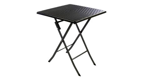 Garthen 37109 Skládací zahradní stůl ratanového vzhledu 75 x 61 x 61 cm
