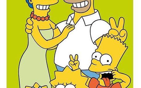 Jerry Fabrics osuška Simpsons family green 70x140 cm