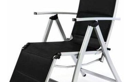 Garthen DELUXE 35364 Polohovatelná zahradní židle s opěrkou nohou