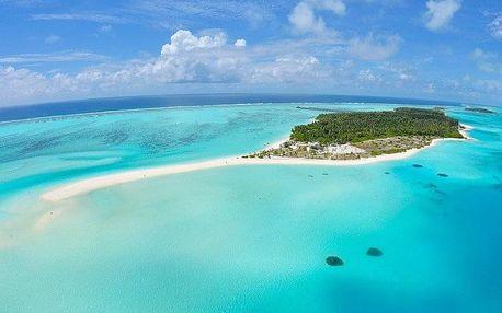 Maledivy - Atol Ari na 10 dní, plná penze s dopravou letecky z Prahy, přímo na pláži
