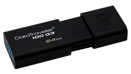 Kingston DataTraveler 100 G3 64GB černý (DT100G3/64GB)