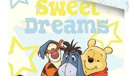 Jerry Fabrics Dětské bavlněné povlečení WTP Sweet Dreams, 140 x 200 cm, 70 x 90 cm