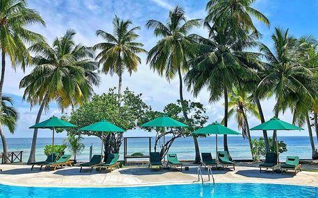 Maledivy - Equator Village (Gan) na 7 dní, polopenze s dopravou letecky z Prahy, přímo na pláži