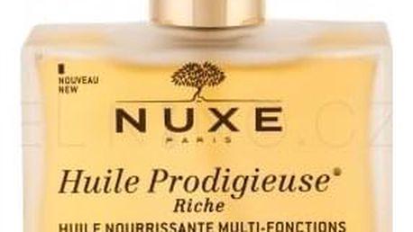NUXE Huile Prodigieuse Riche Multi Purpose Dry Oil Face, Body, Hair 100 ml bohatý zkrášlující suchý olej pro obličej, tělo a vlasy pro ženy