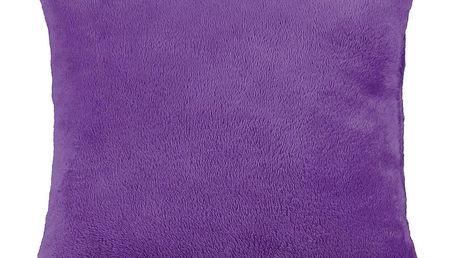 Bellatex polštářek Korall micro, fialová, 38 x 38 cm