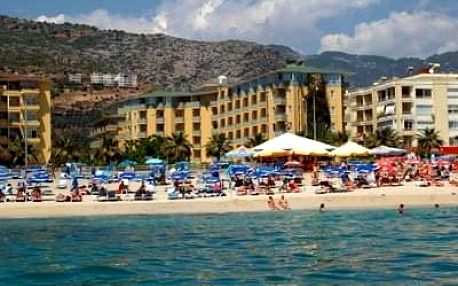 Turecko - Alanya na 8 až 9 dní, all inclusive s dopravou letecky z Prahy nebo Brna, 50 m od pláže