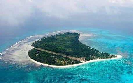 Seychely - mikroostrovy v Seychelách na 10 dní, plná penze s dopravou letecky z Prahy, přímo na pláži